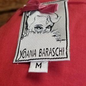 Yoana Baraschi Dresses - Yoana Baraschi Coral & White Embroidered Dress Med